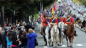Boston area traffic will be delayed before and during the Columbus Day parade