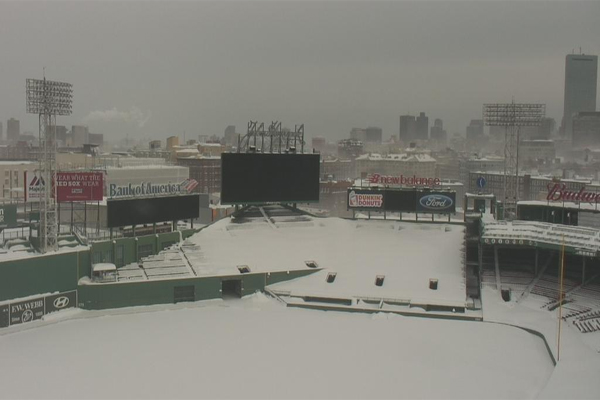 Fenway Park snowed under in February 2015
